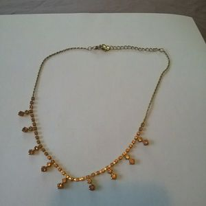Delicate choker with pretty yellow stones